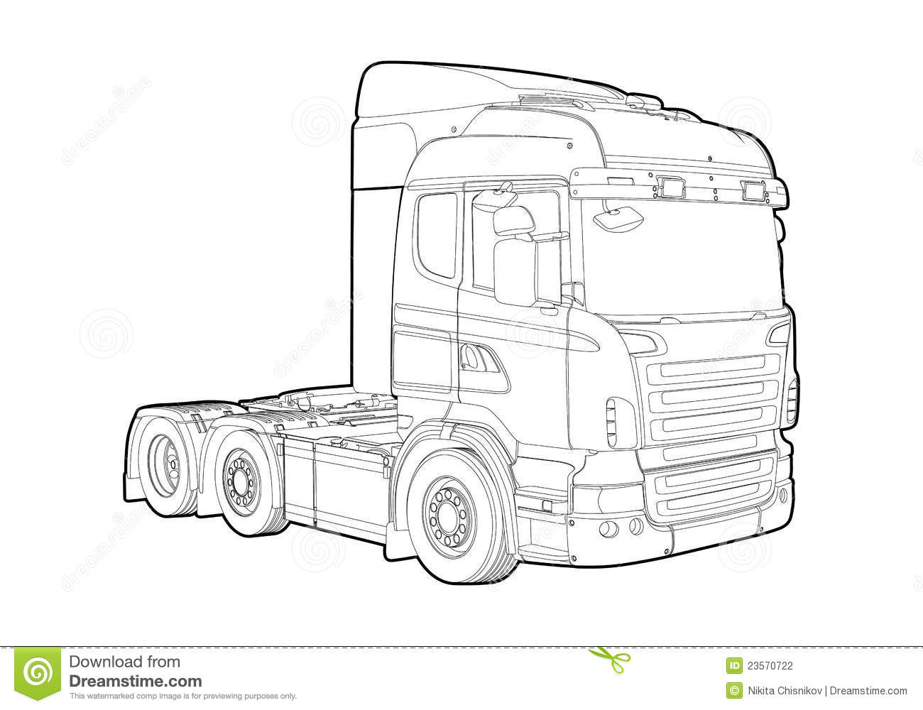 Outline truck stock illustration. Image of fuel, speed