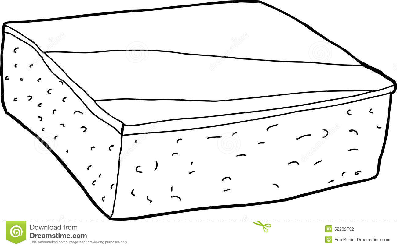 Outlined Brownie Piece Stock Illustration Illustration Of