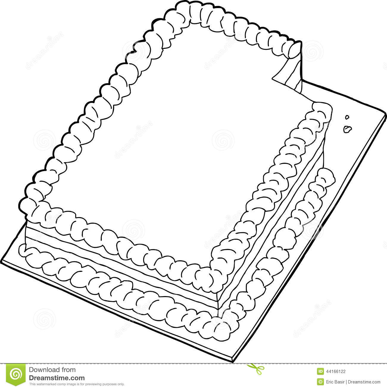 Outlined Cake With Missing Slice Stock Vector