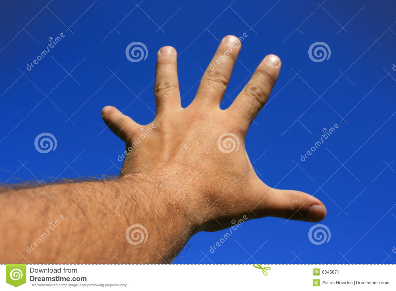 Outstretched Hand Stock Image Image 6345871