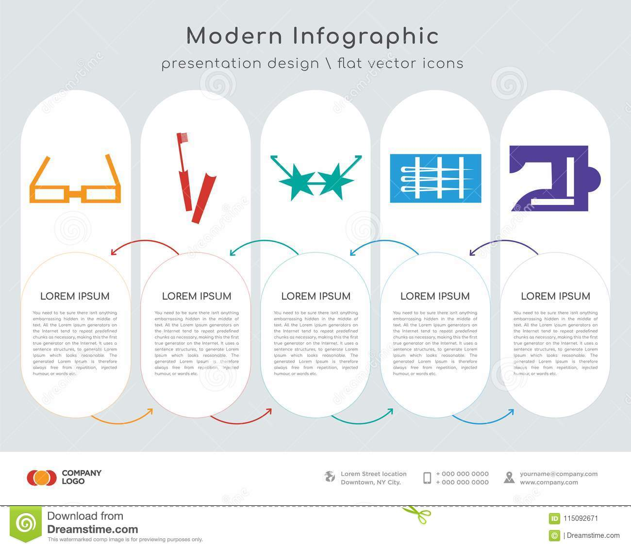 hight resolution of oval shape reading eyeglasses infographics design