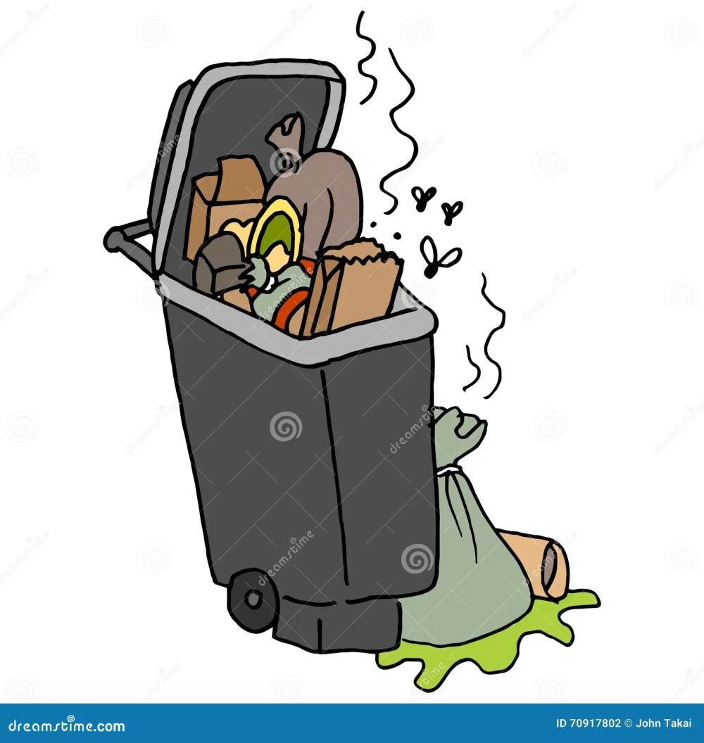 medium resolution of overflowing trash can