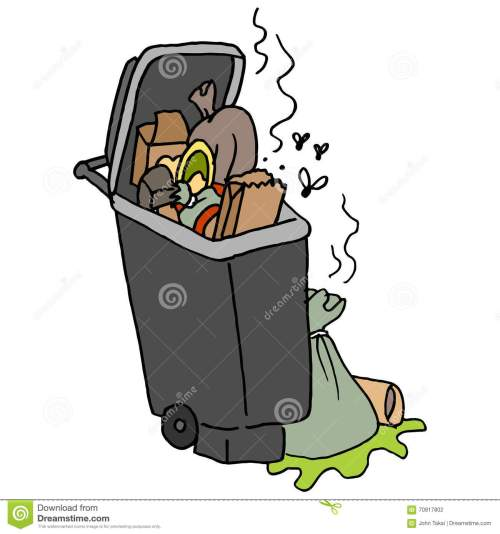 small resolution of overflowing trash can