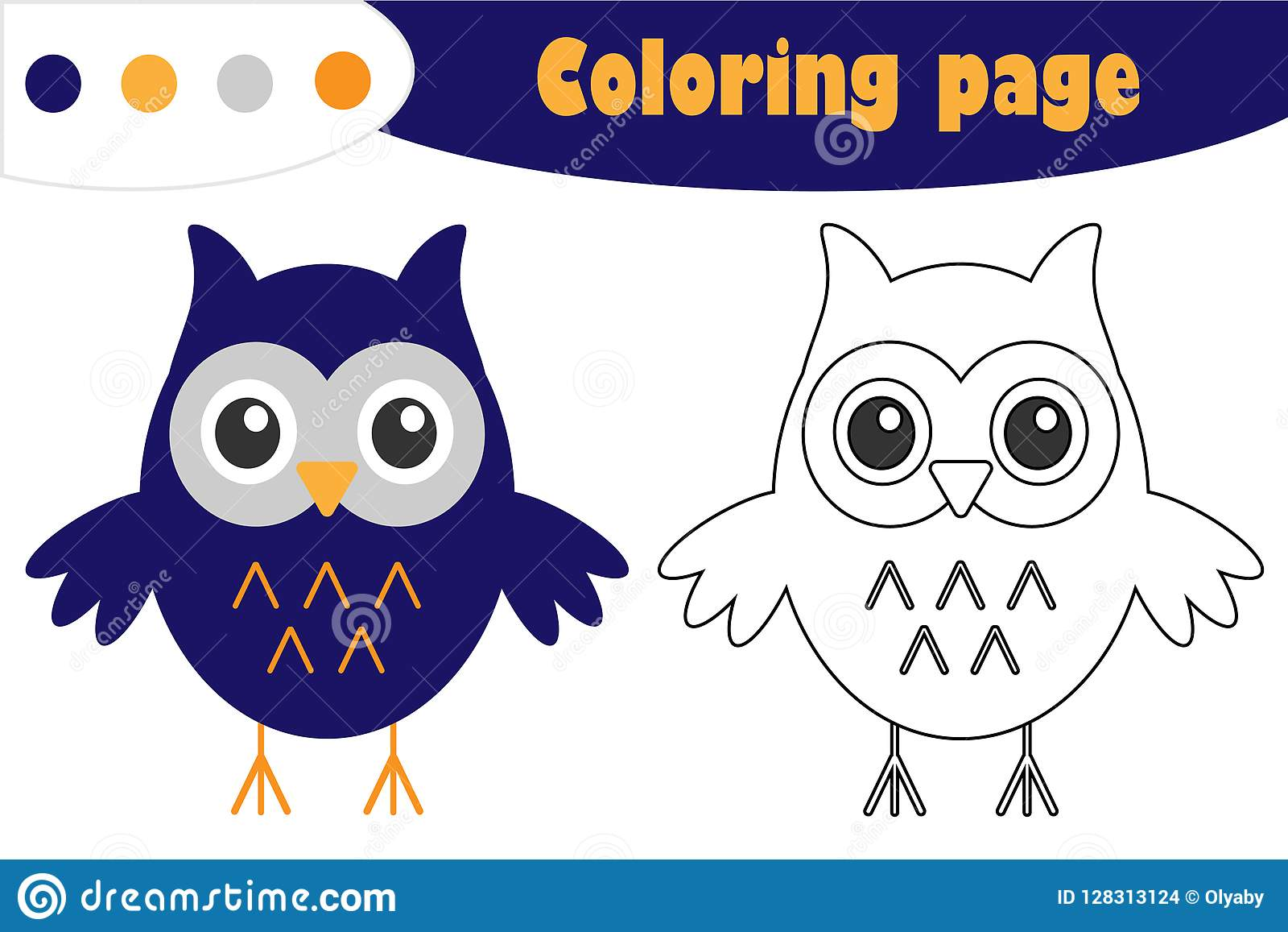 Owl In Cartoon Style Halloween Coloring Page Education