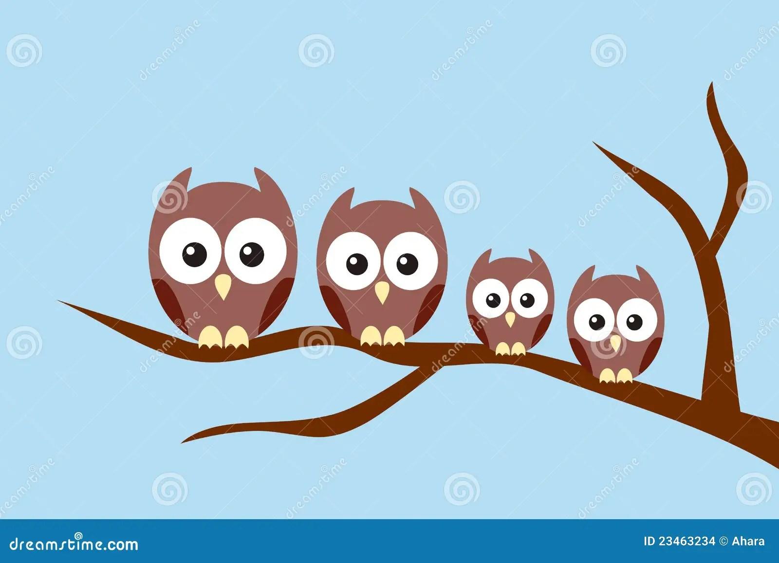 Animal Print Desktop Wallpaper Owl Family Stock Images Image 23463234