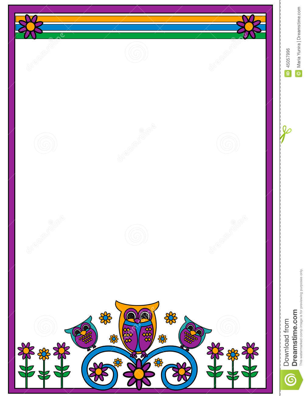 owl frame illustration 45057996