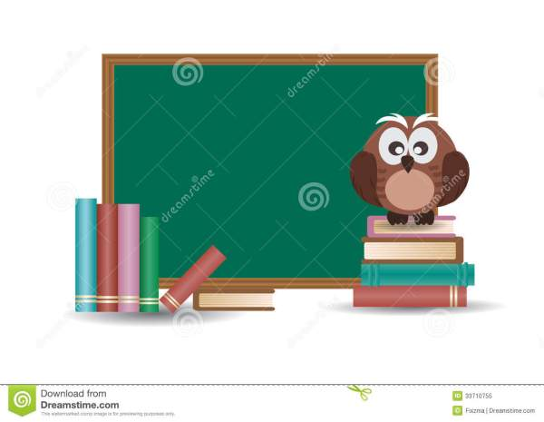 Owl And School Board Royalty Free Stock