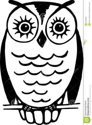 owl line simple drawing resting wire vector dreamstime illustration mr