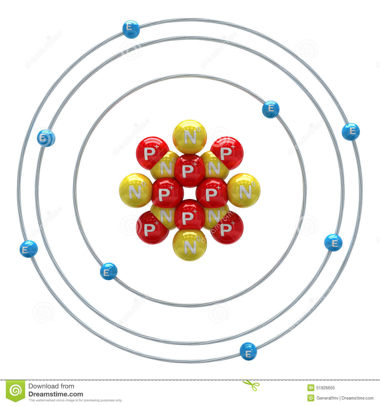 diagram of an atom with labels hopkins 7 blade wiring oxygen on white background stock illustration
