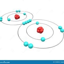 Bohr Diagram Of Oxygen Minn Kota 24v Trolling Motor Wiring Atomic Stock Illustration