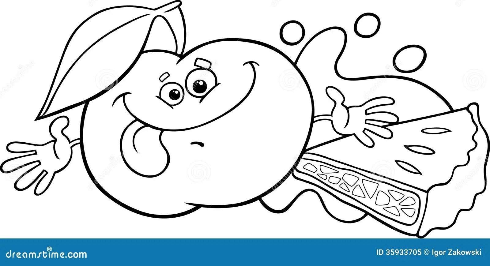 Página Da Coloração Dos Desenhos Animados De Apple E Da