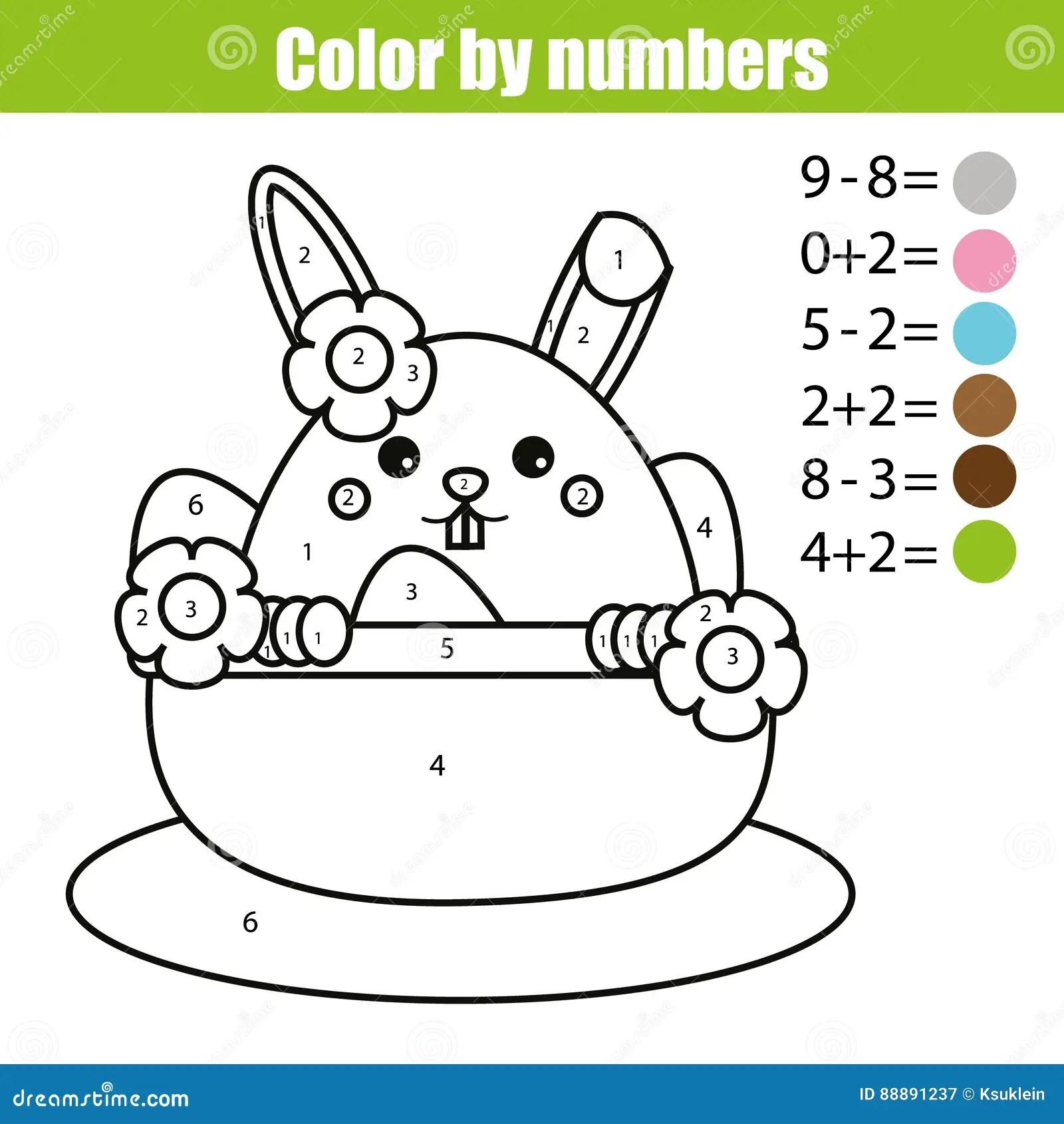 Pagina Que Colorea Con El Caracter Del Conejito De Pascua