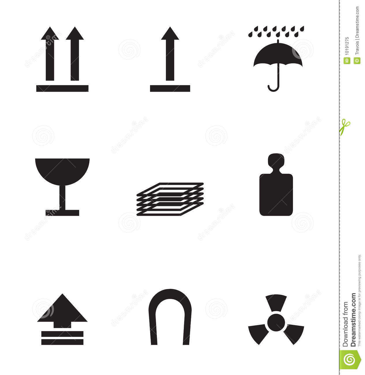 Package Symbols Royalty Free Stock Photo