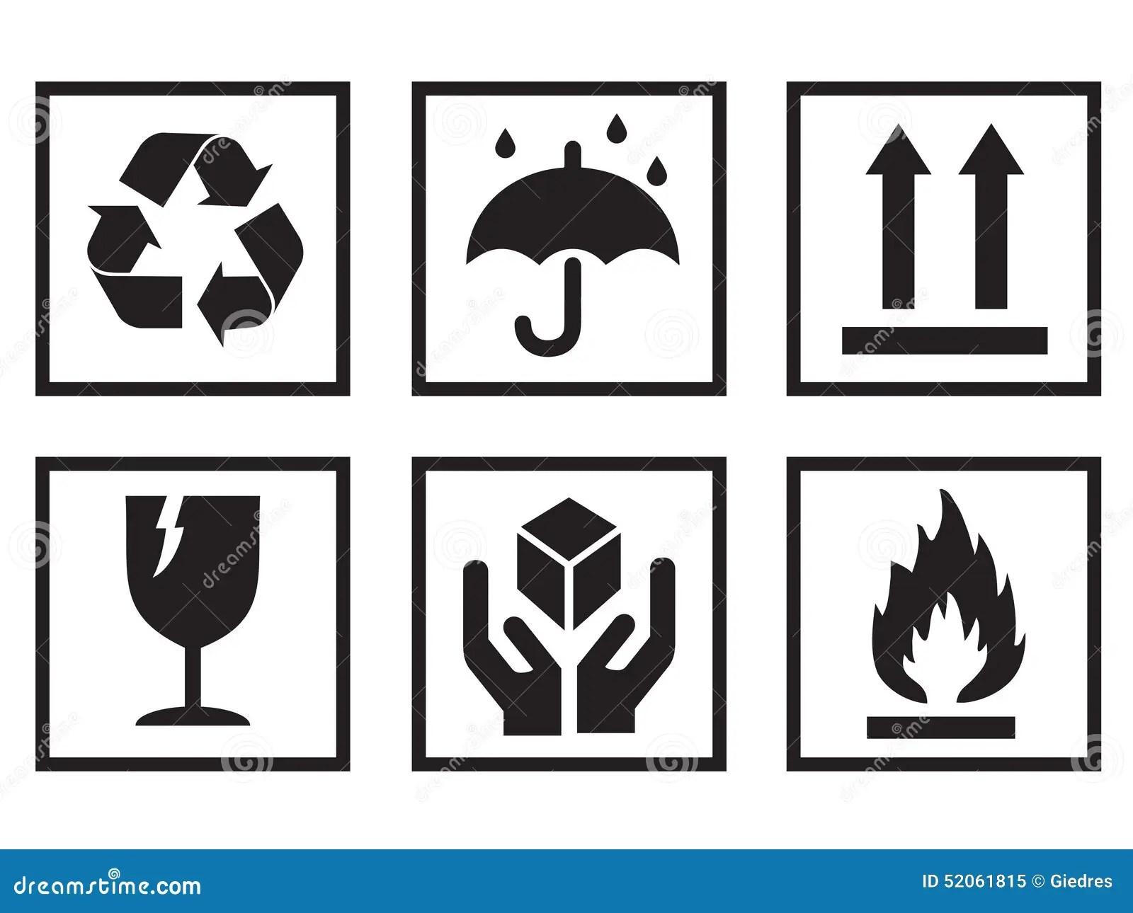 Packaging Symbols Stock Vector