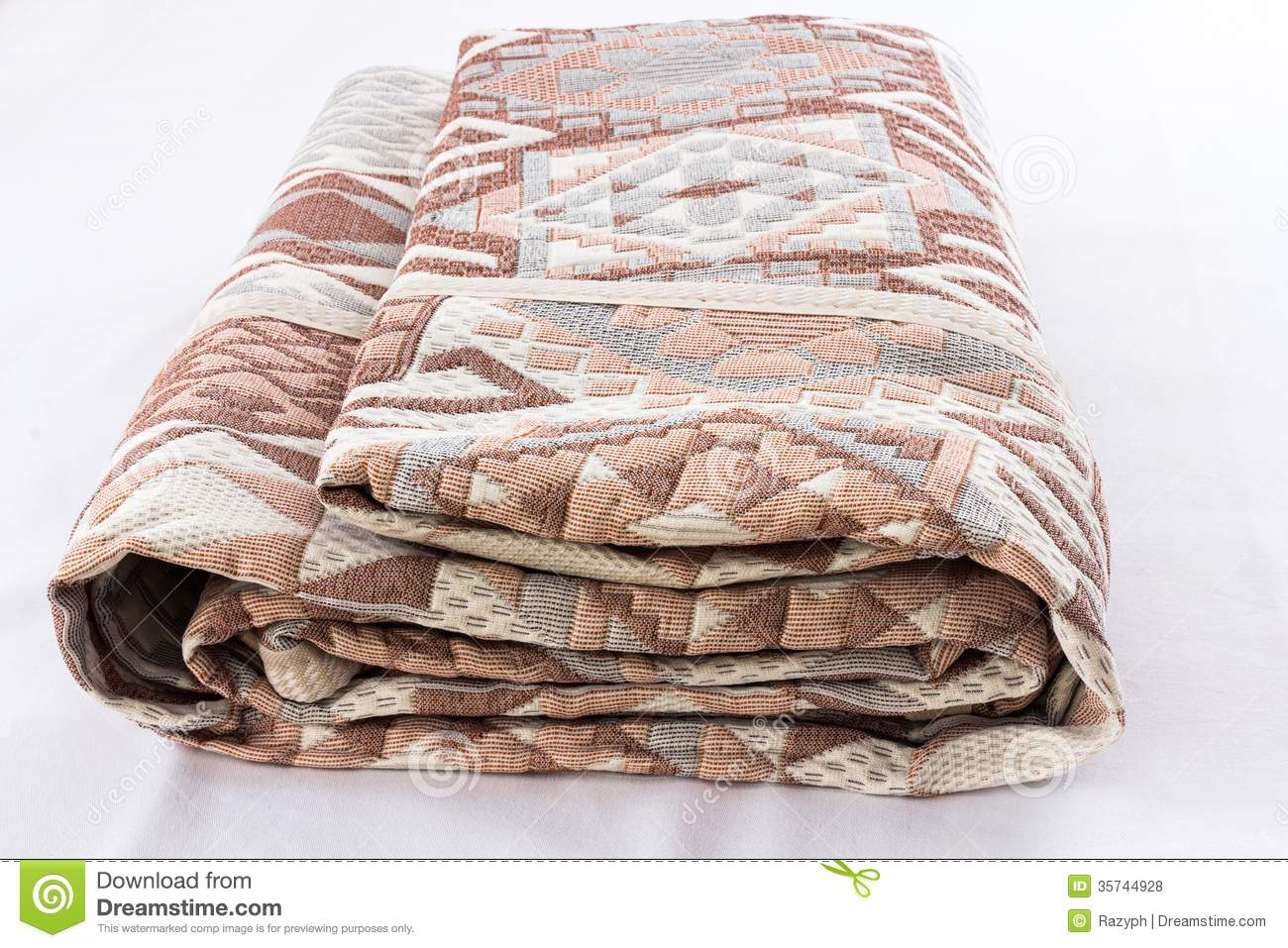 Packed Bed Cover Royalty Free Stock Photos  Image 35744928