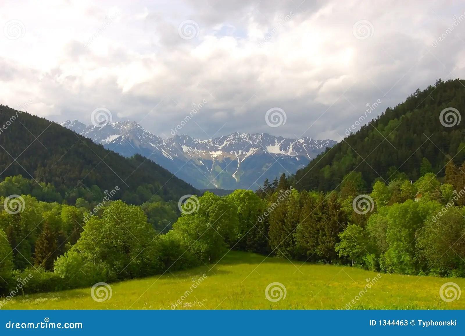 Paesaggio alpino immagine stock Immagine di libert terra  1344463