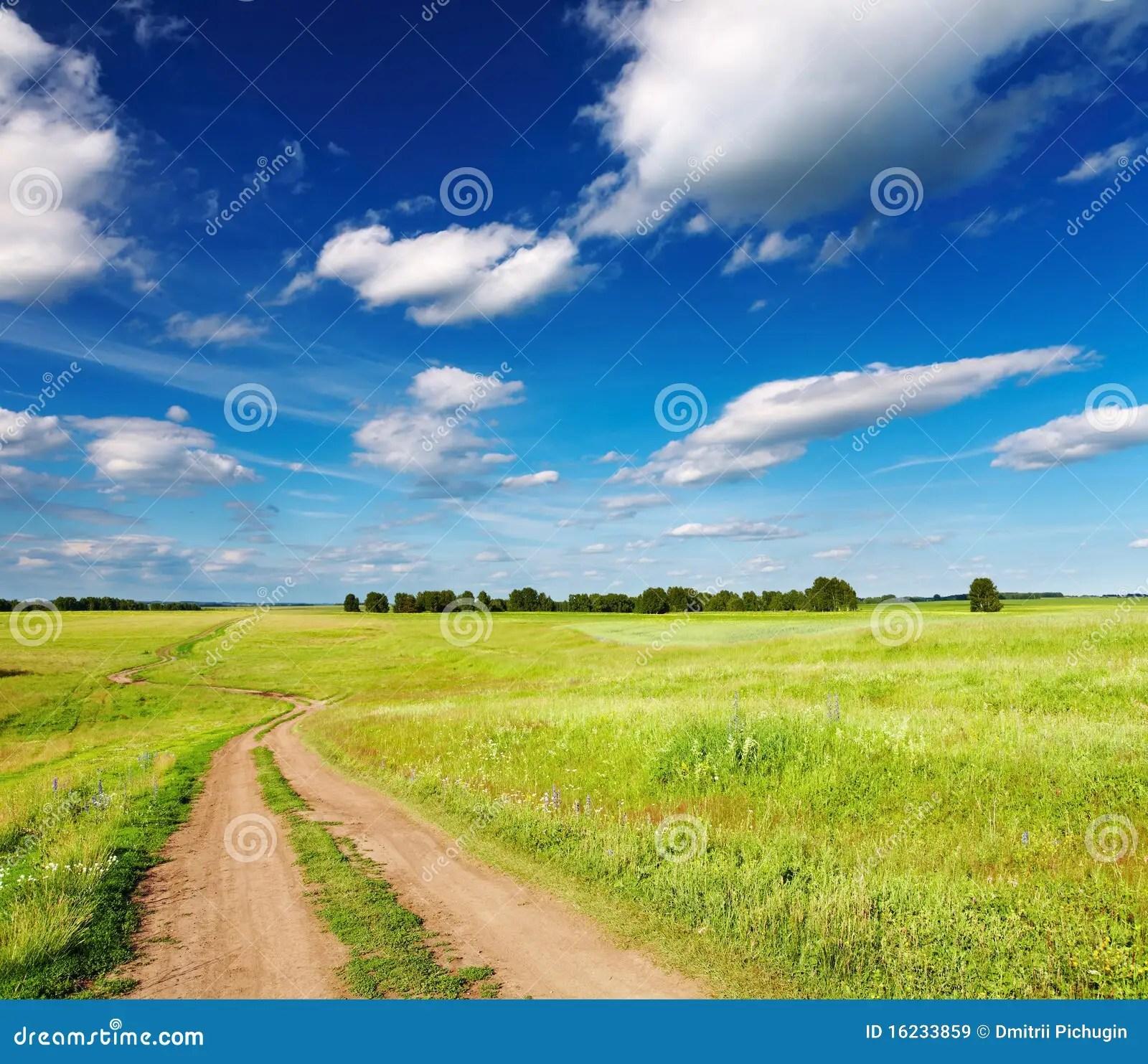 Paesaggio Con La Strada Campestre Immagine Stock  Immagine di sporcizia sole 16233859