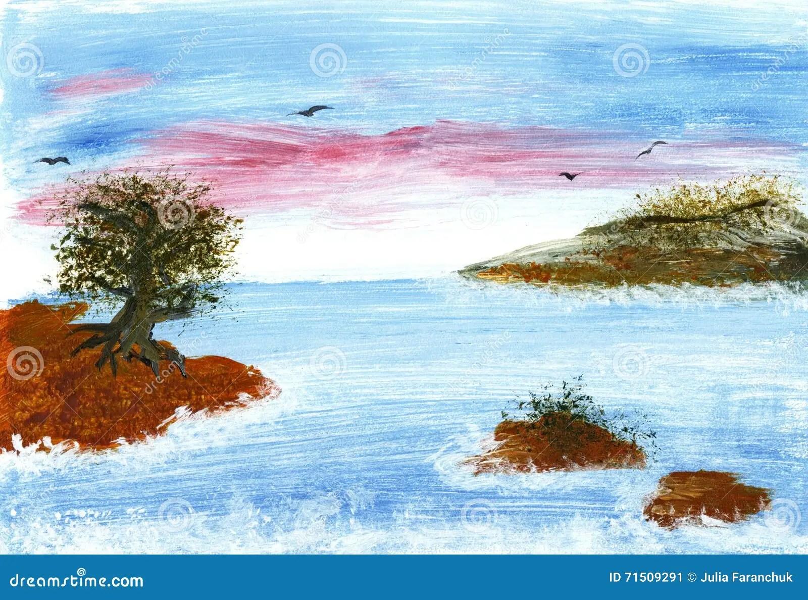 10 Disegno Paesaggio Di Mare A Colori
