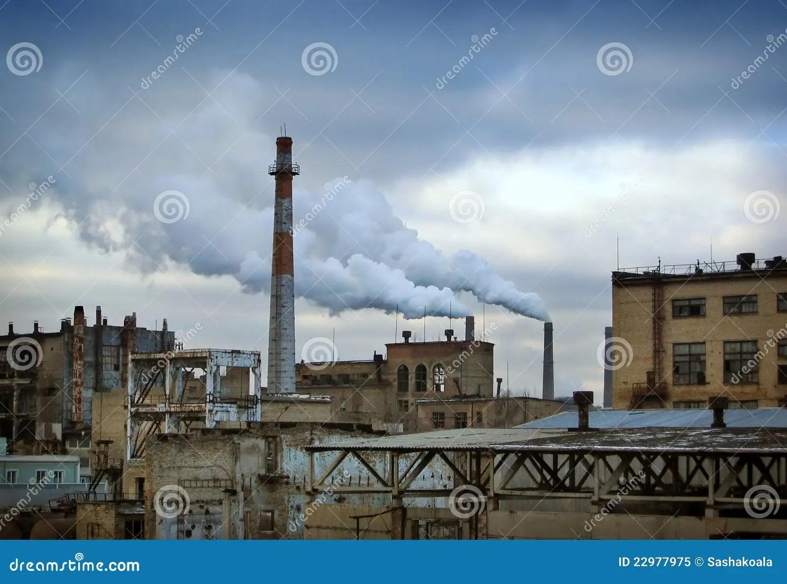 Paesaggio Industriale Con La Centrale Elettrica Fotografia