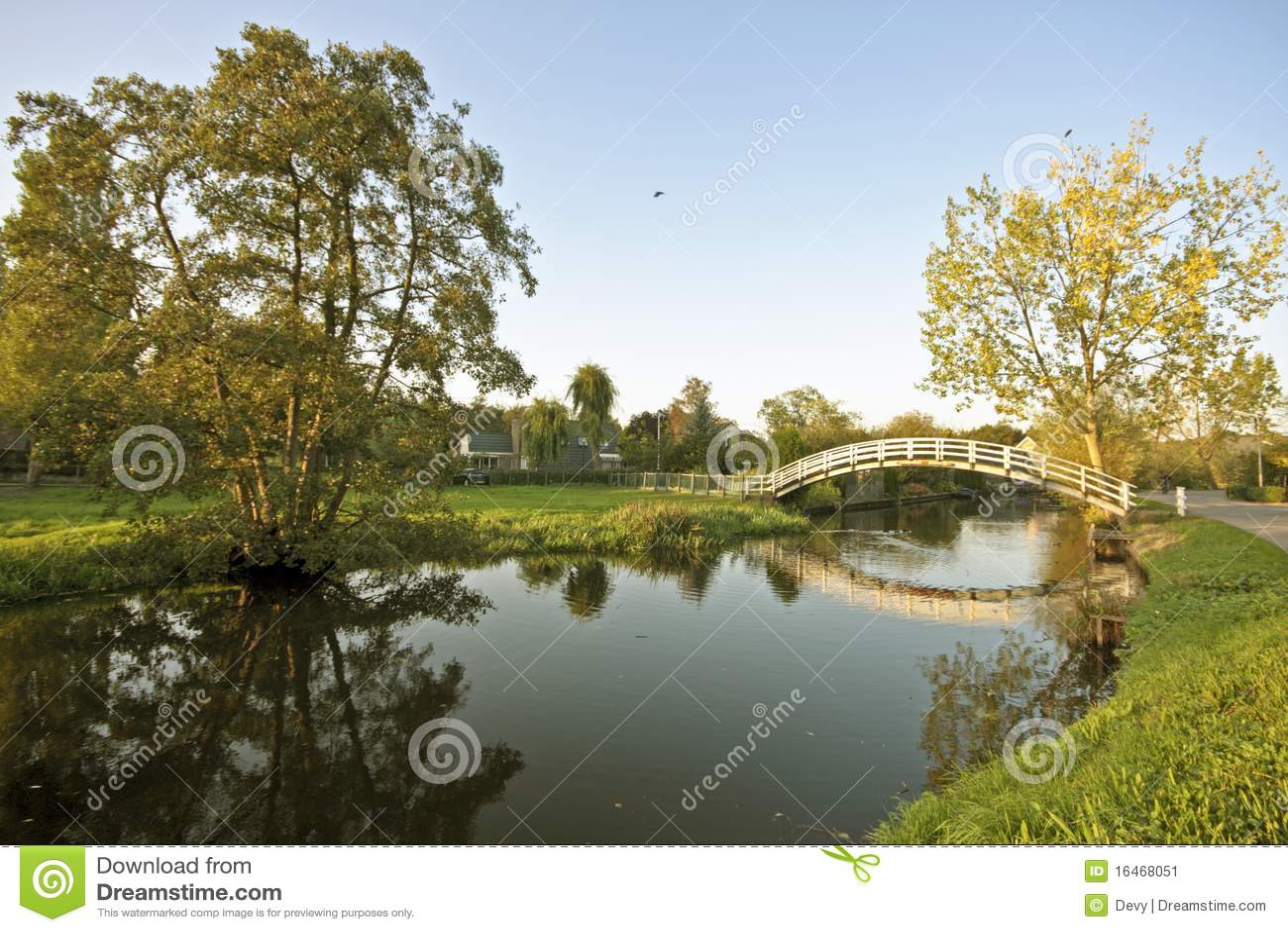 Paesaggio olandese tipico immagine stock Immagine di