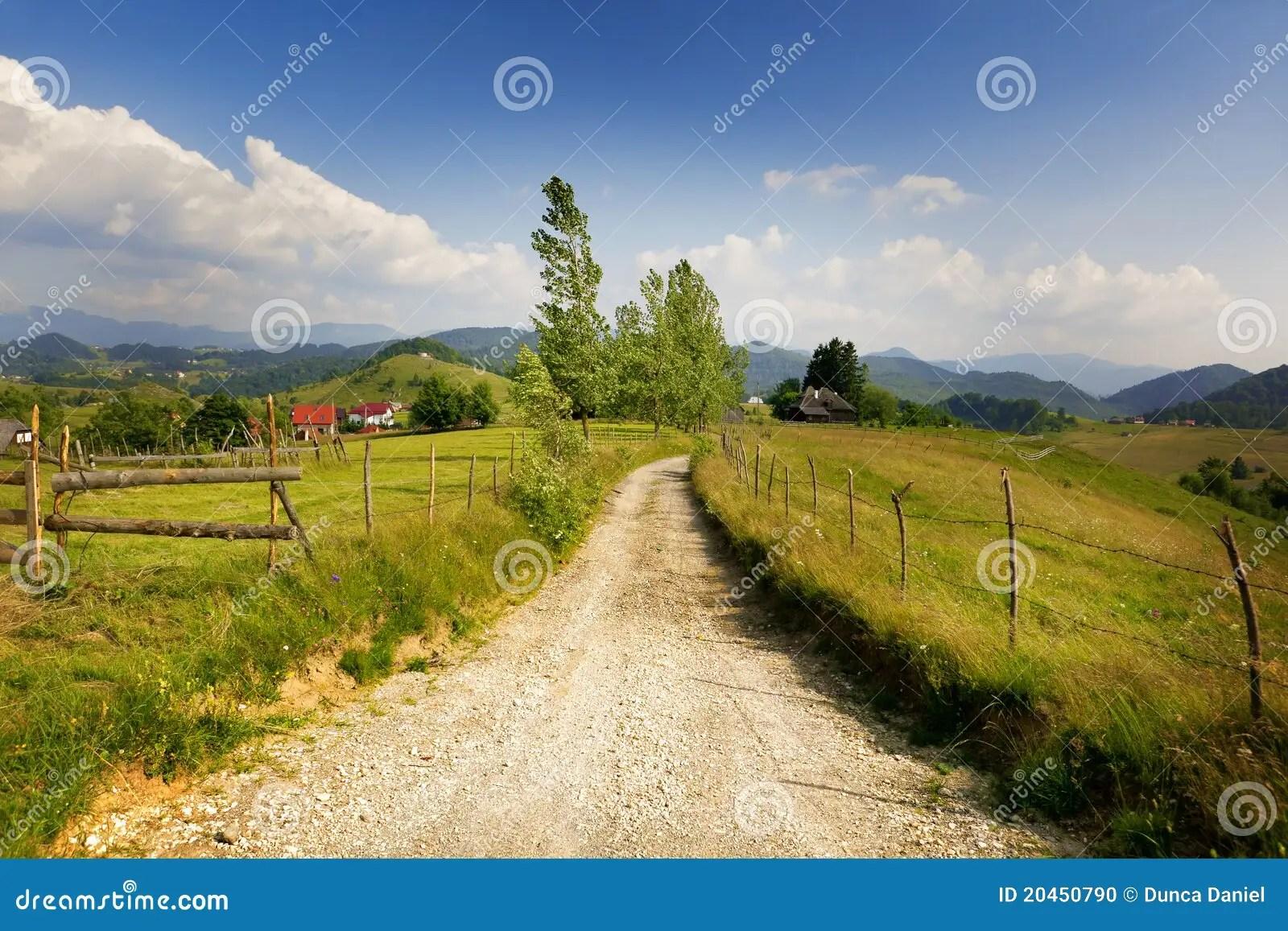 Paesaggio Rurale Dalla Romania Fotografia Stock  Immagine di campo alberi 20450790