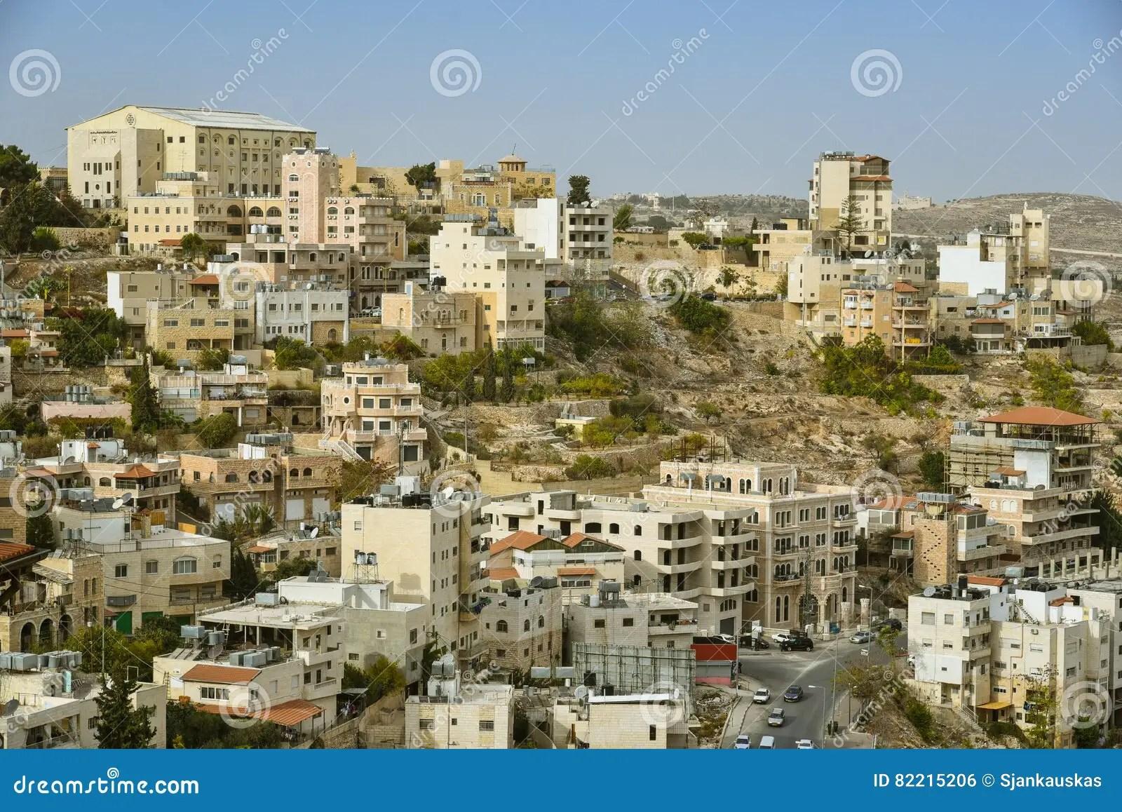 Paesaggio Urbano Di Betlemme Palestina Fotografia Stock