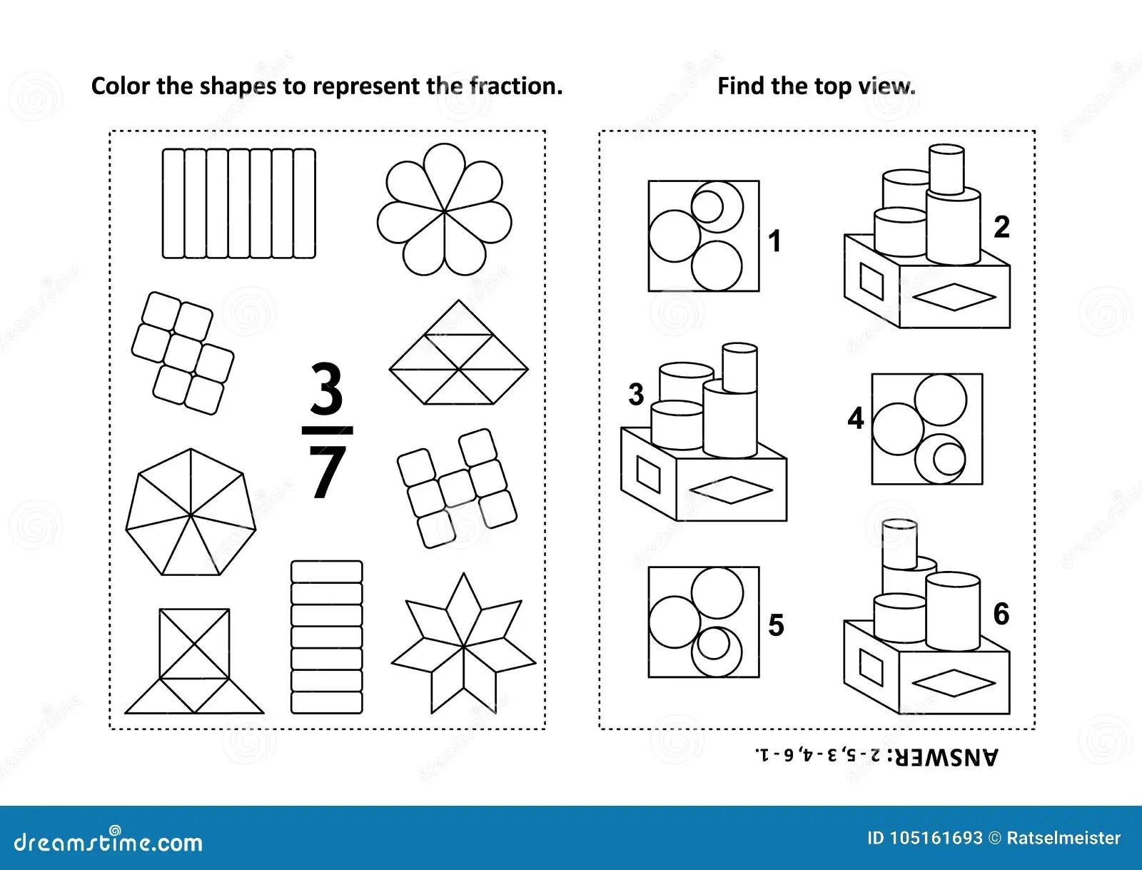 Page Educative D Activite De Maths Avec Deux Puzzles Et