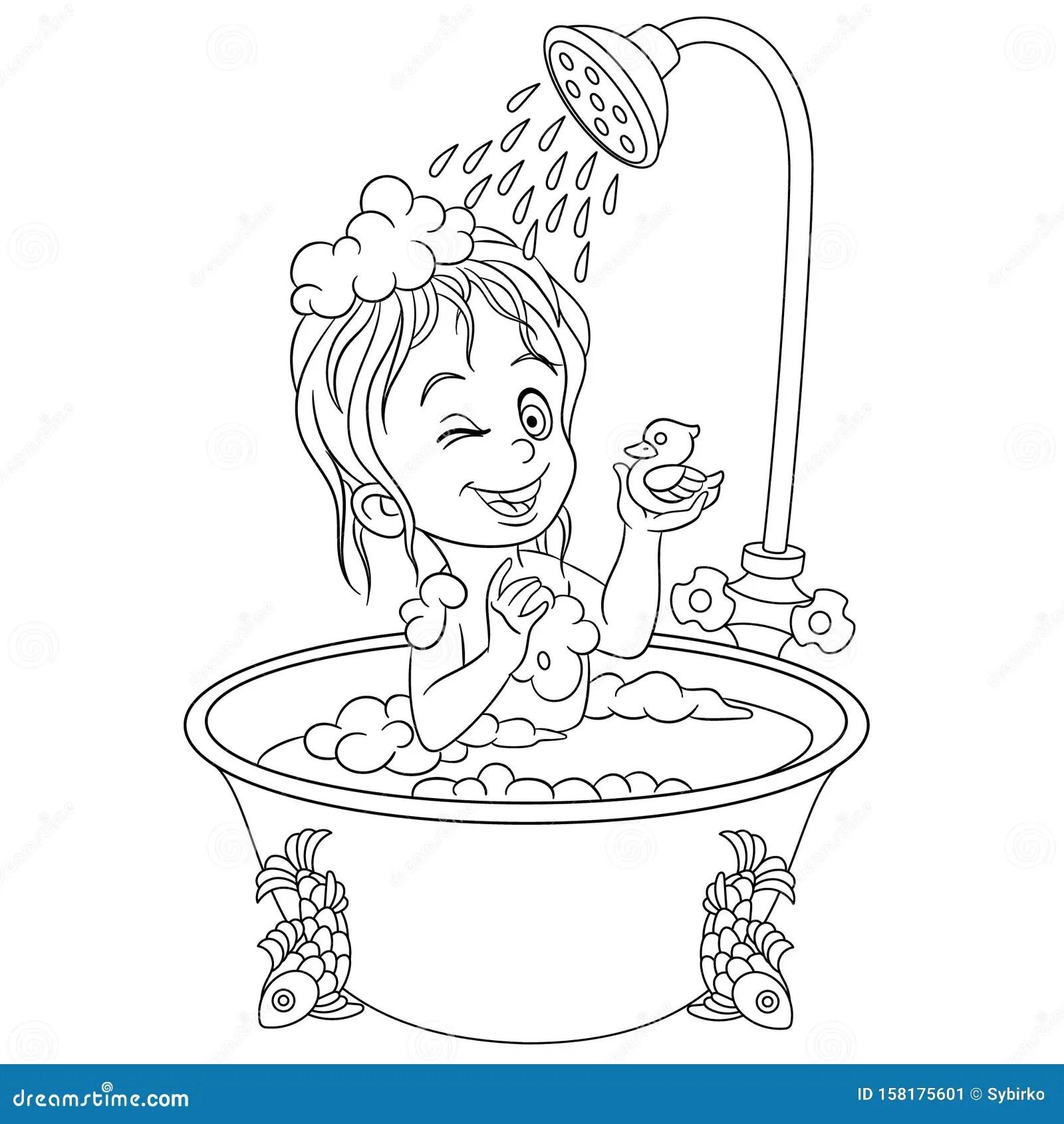 https fr dreamstime com page coloriage fille salle bain prenant douche image158175601