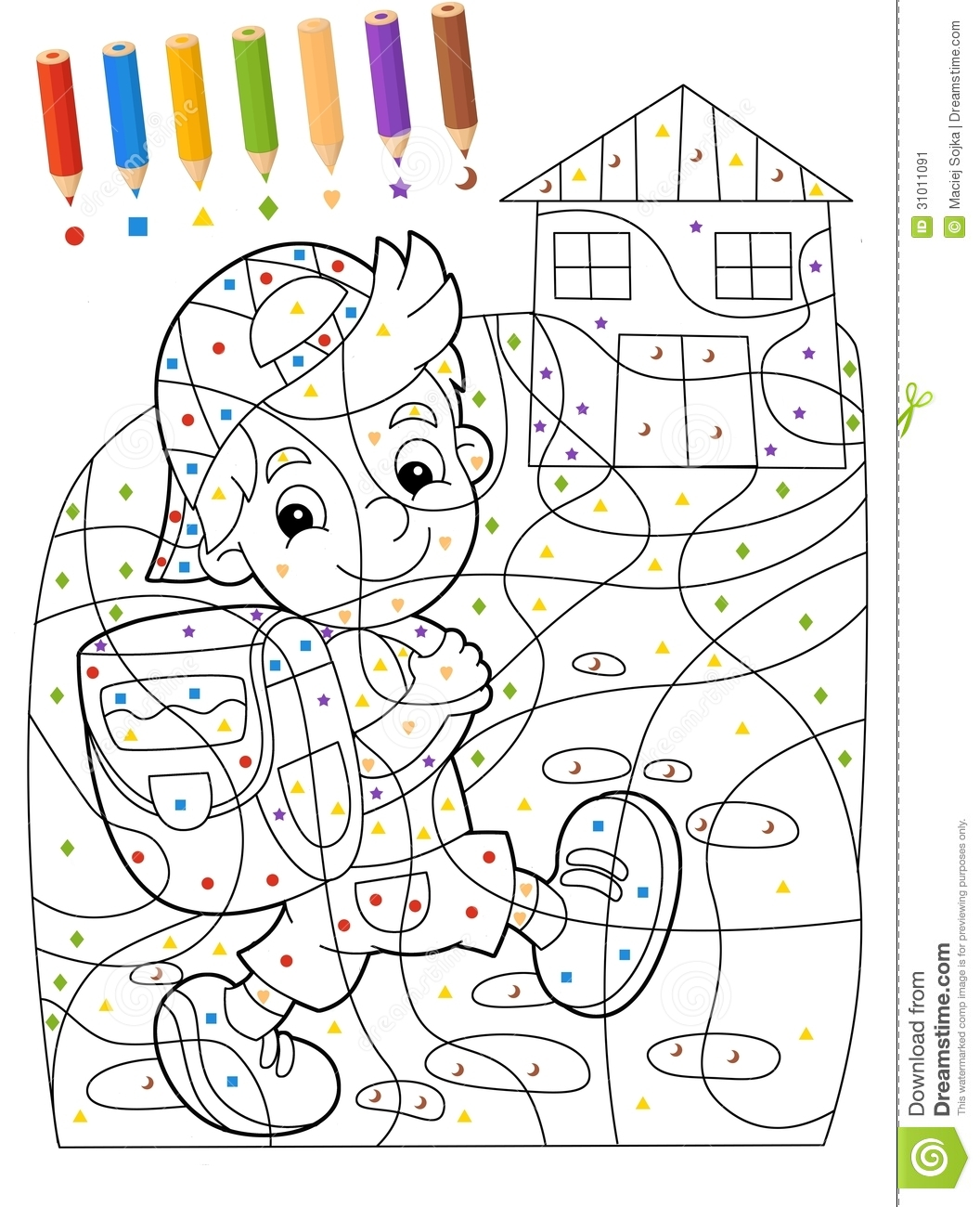 Exercise Coloring Worksheet