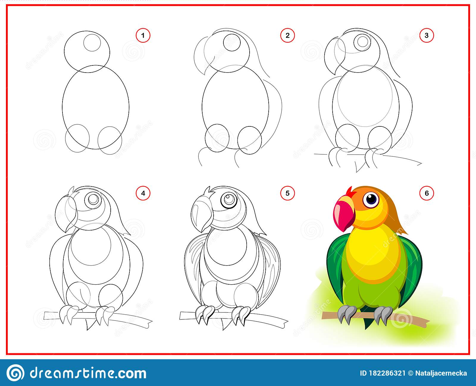 Page Shows How To Learn To Draw Step By Step Cute Little