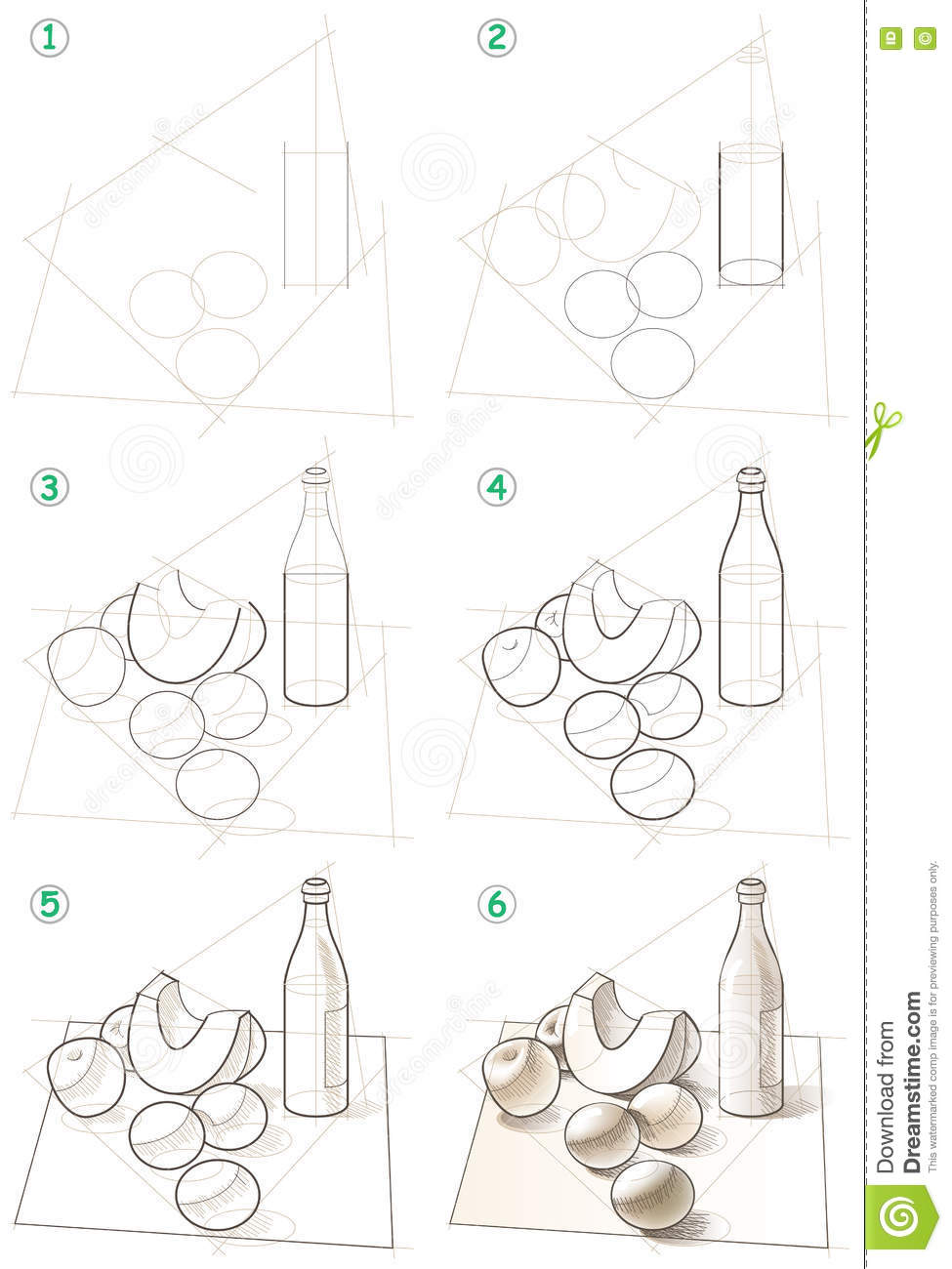 Page Shows How To Learn Step By Step To Draw A Still Life
