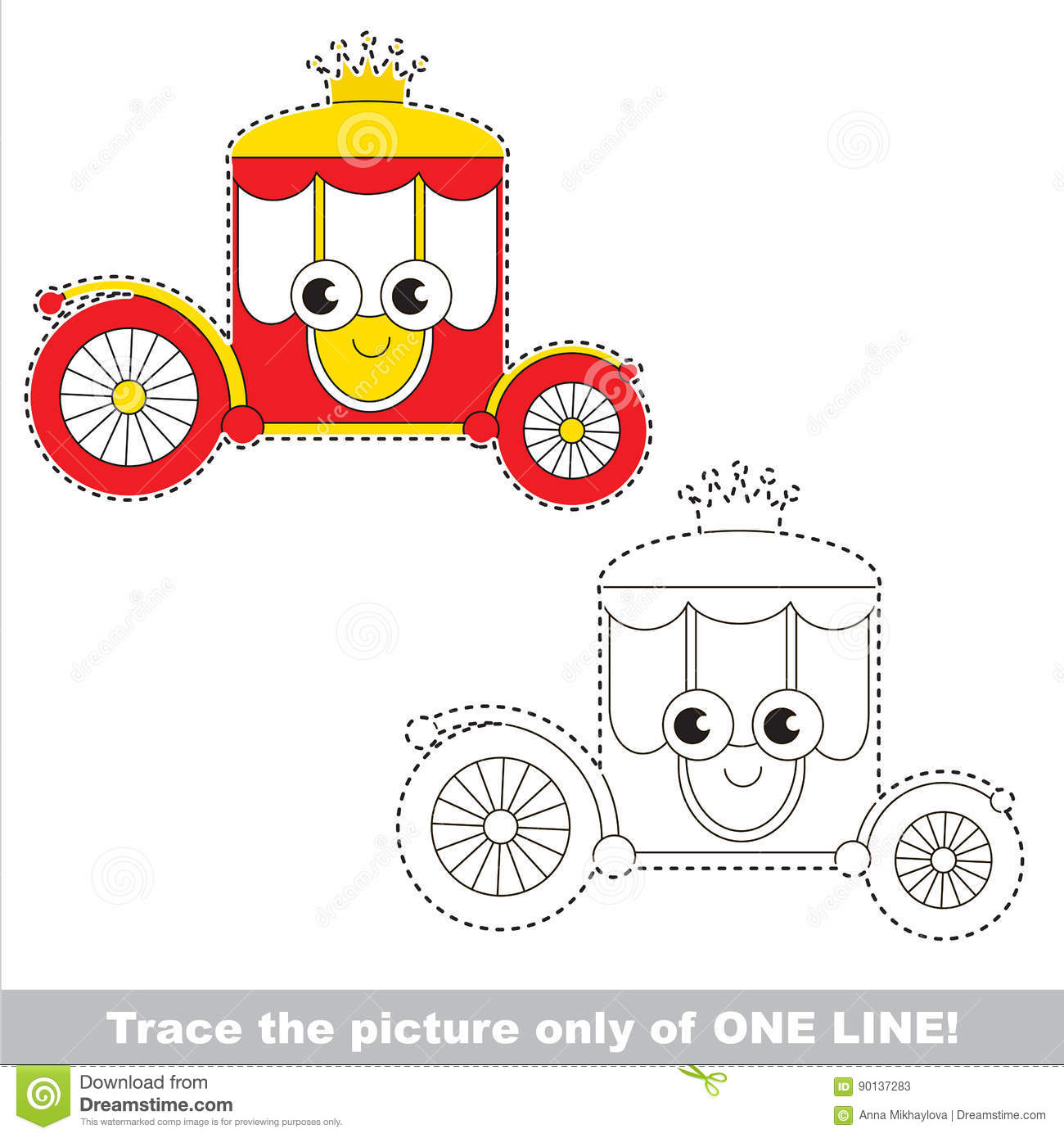 Page To Be Traced Kid One Line Tracing Educational Game
