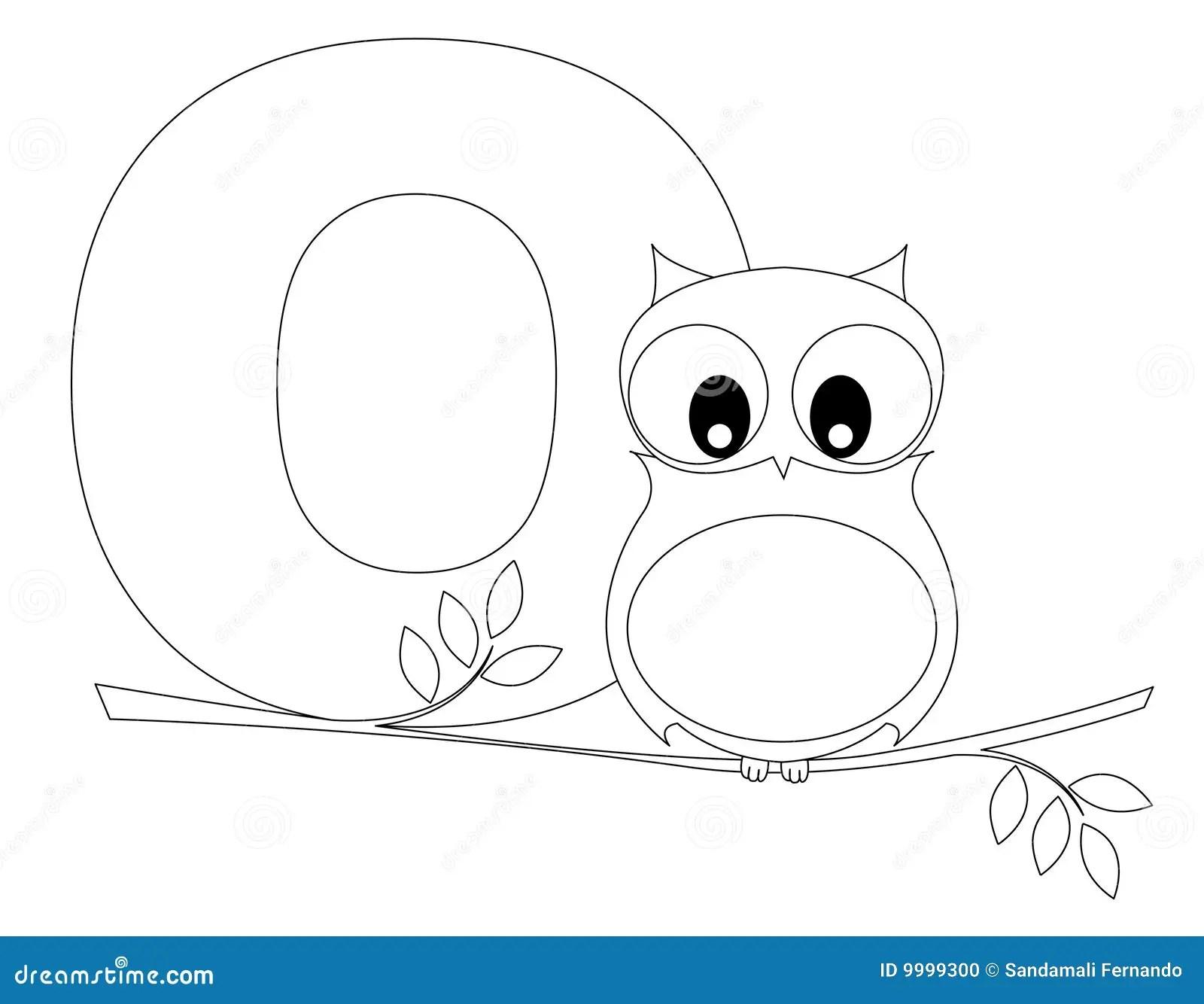 Pagina Animale Di Coloritura Di Alfabeto O Illustrazione