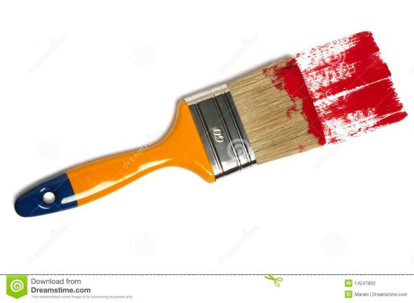 Paint Brush With Color Painting Stock - 14247802
