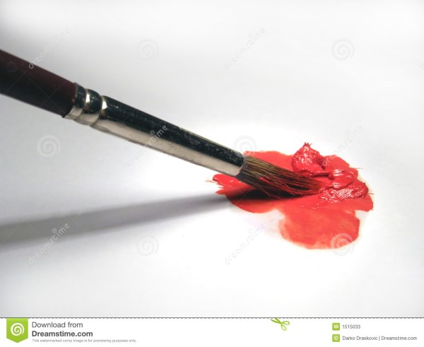 Paint Brush And Oil Color Stock - 1515033