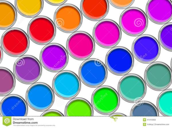 Color Paint Tin Cans Top View Royalty-free Stock #20669789