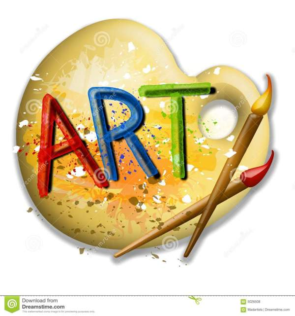 Paintbrushes And Palette Art Logo Stock Illustration