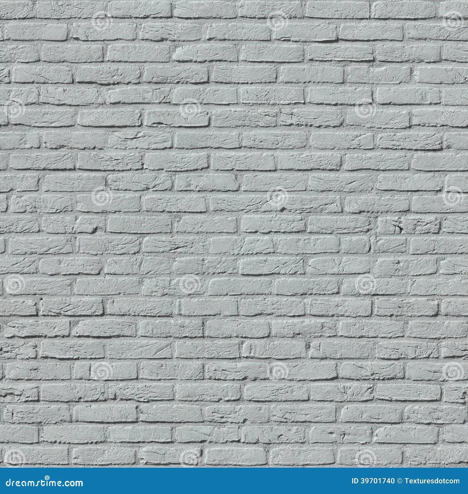 White Painted Brick Wall Seamless Pattern Royalty Free
