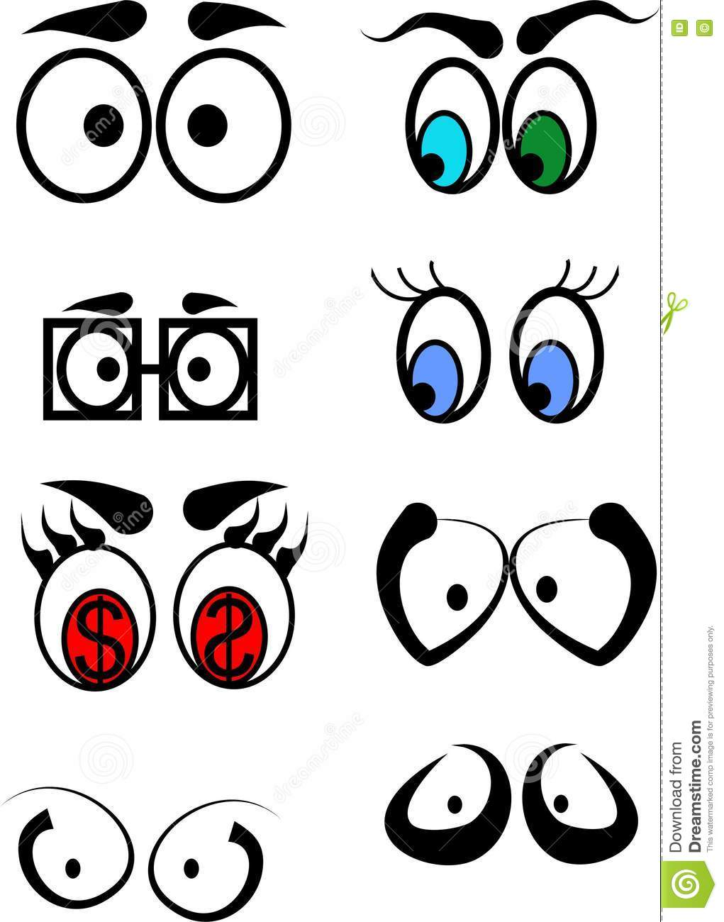 Eyes Of Different Color And Shape Royalty-Free Stock Image