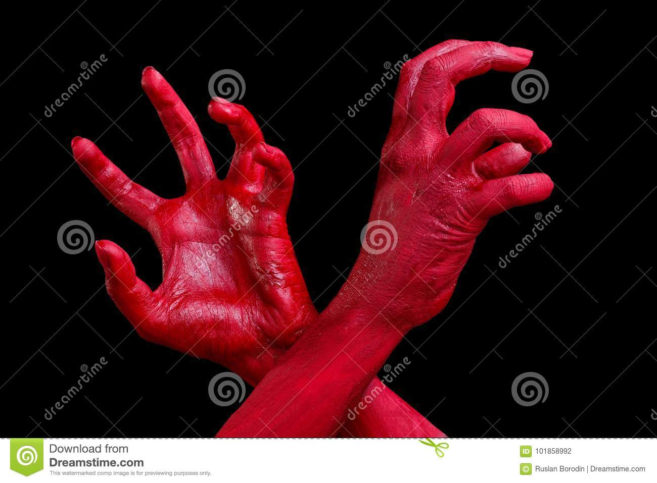 human hands painted in