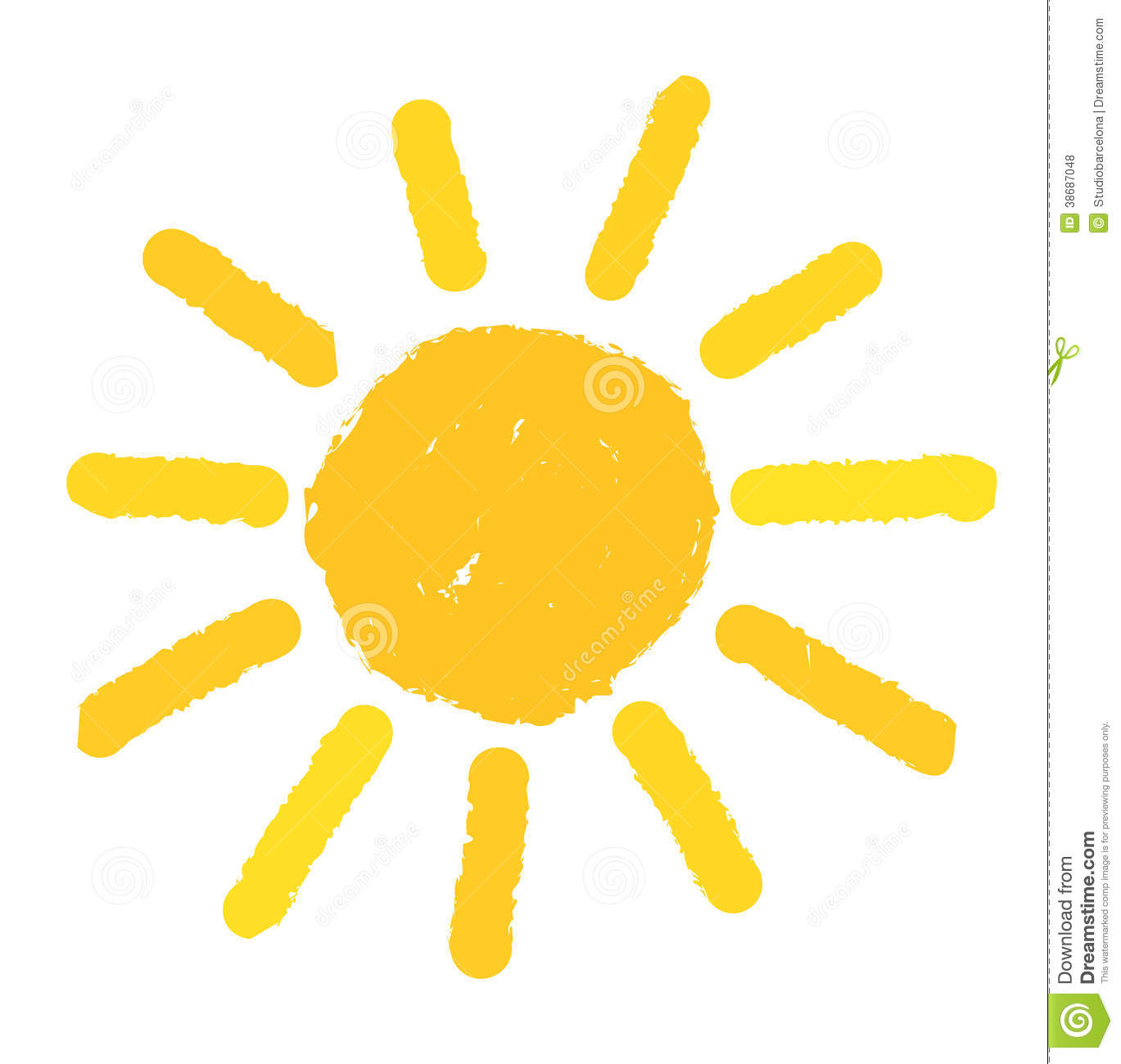 Painted Sun Illustration Stock Illustration Image Of