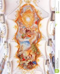 Painting On The Church's Ceiling Royalty Free Stock Photo