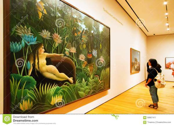 Painting Rousseau In Moma Of York Editorial