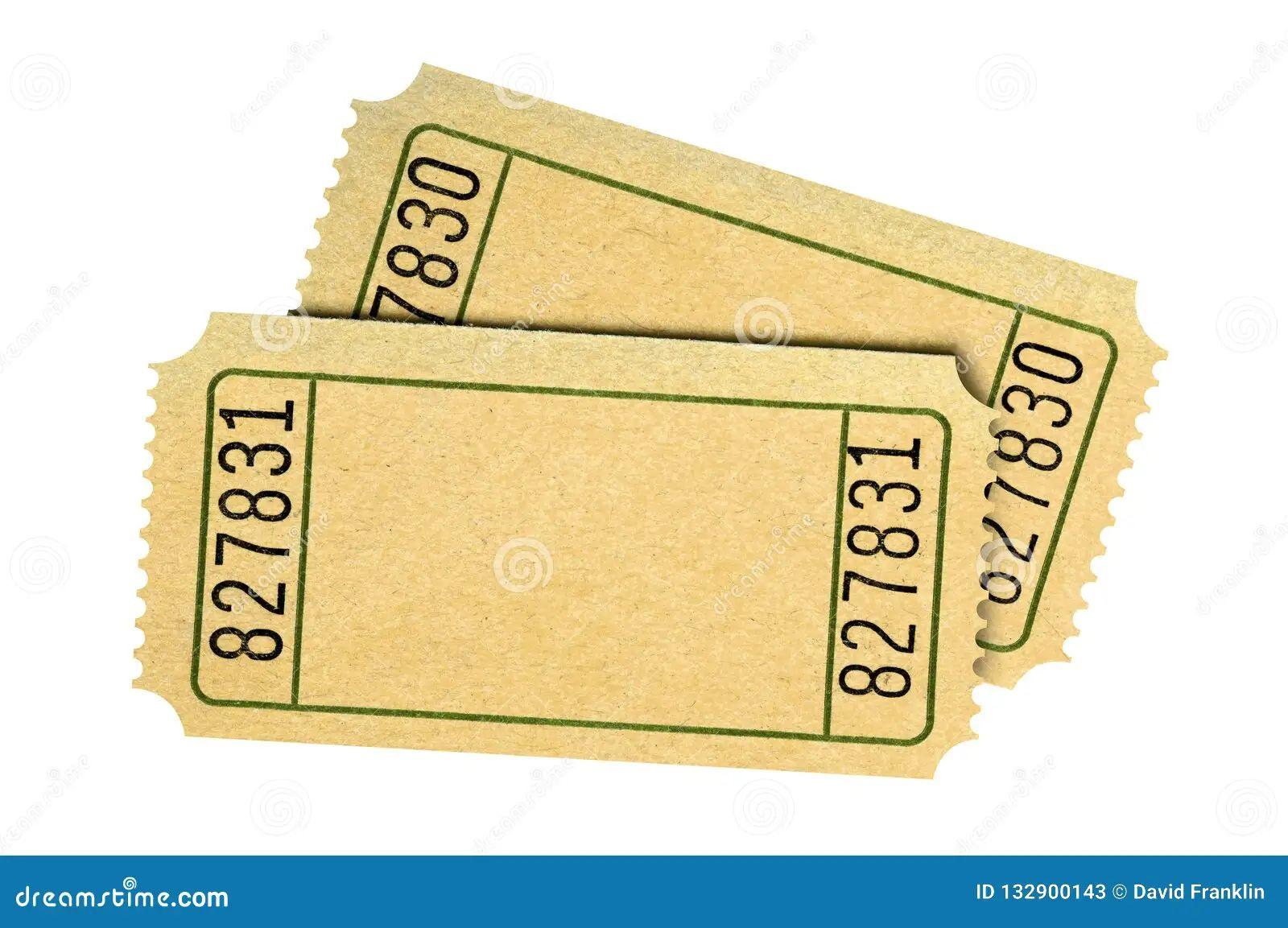 plain raffle tickets