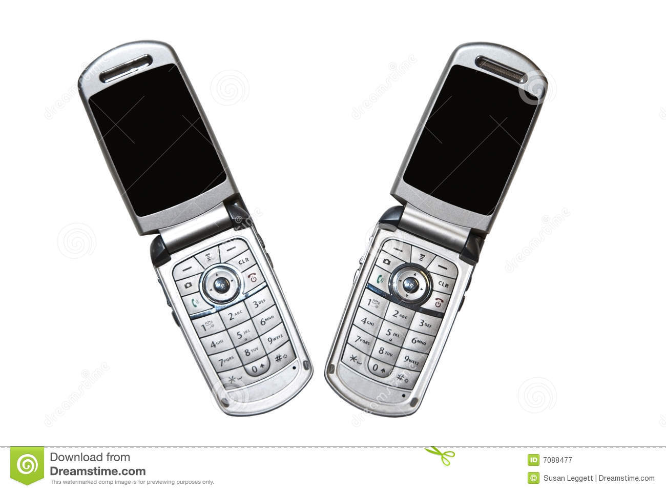 A Pair Of Cell Phones/Isolated Royalty Free Stock
