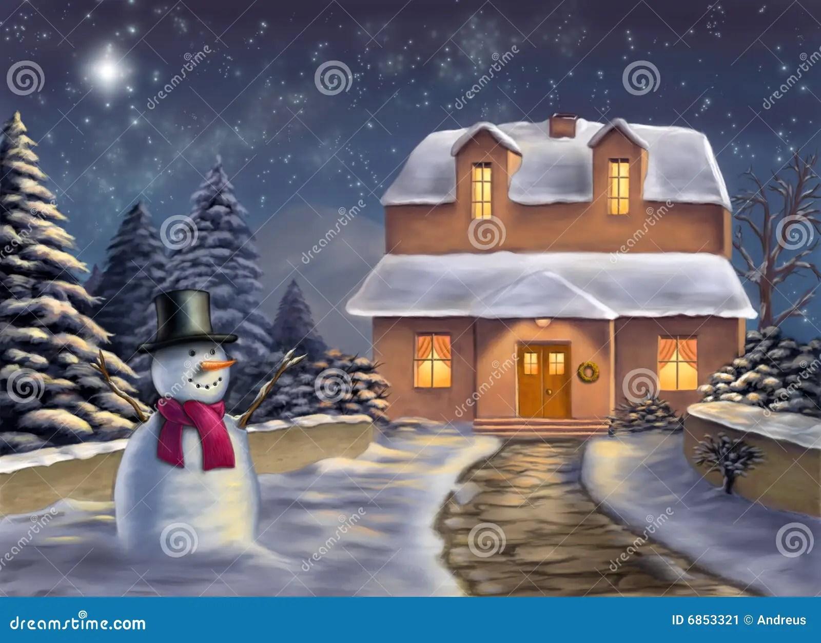 Paisaje de la Navidad stock de ilustracin Ilustracin de