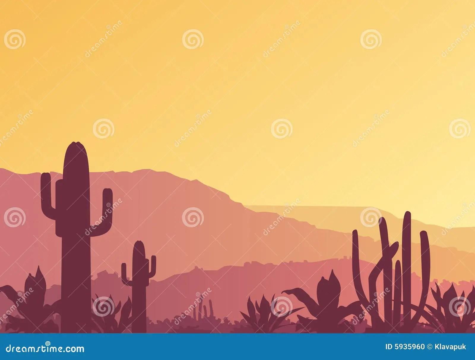 Paisaje mexicano ilustracin del vector Ilustracin de