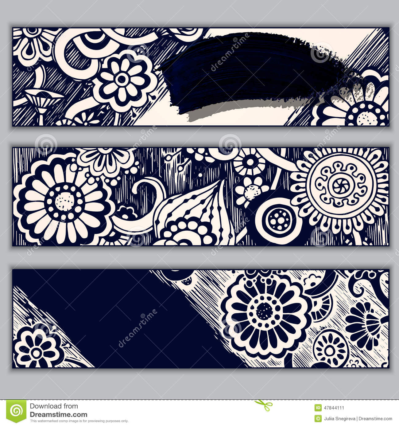 Paisley Batik Background Ethnic Doodle Cards Stock Image