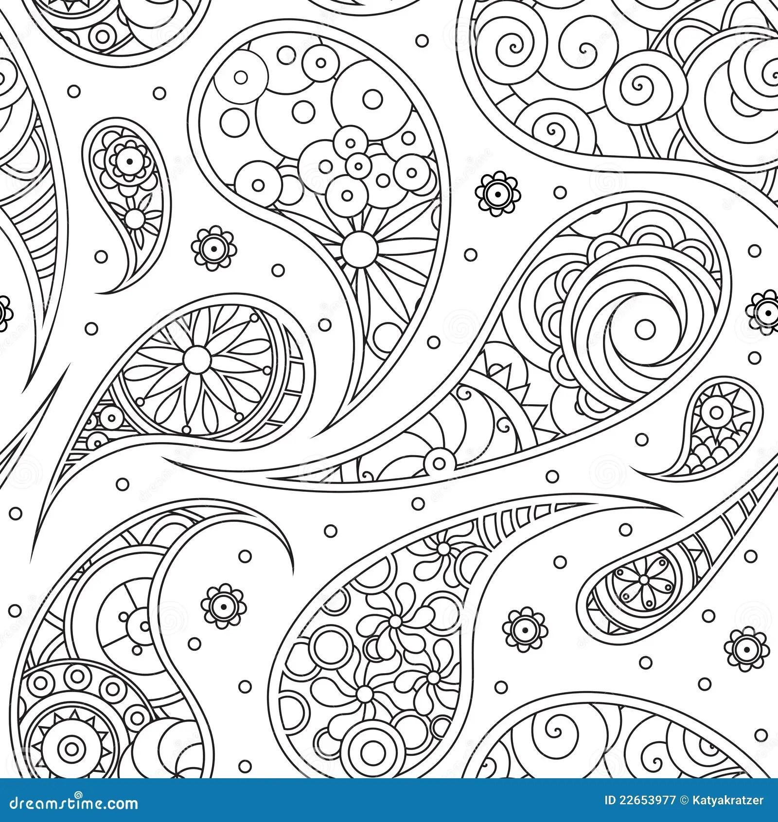 Paisley pattern stock vector. Illustration of decoration
