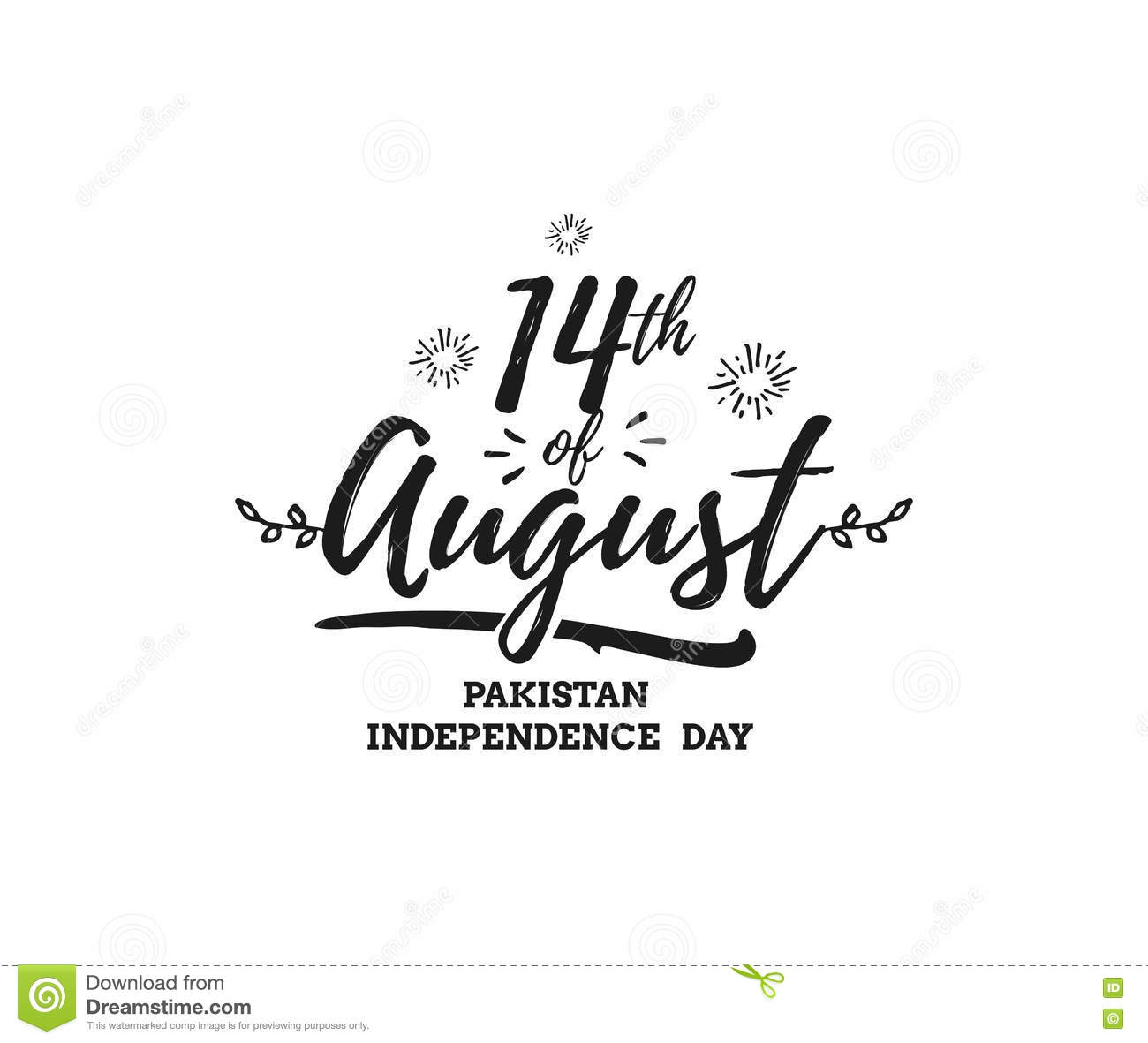 Pakistan Independence Day 14th August Vector Emblems